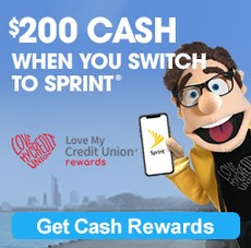 Sprint website banner